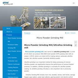 Global Grinding Mill, Vertical Mill, Micro Powder Mill, Coating Machine,