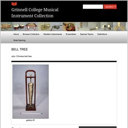 Grinnell Collège musical instruments collections
