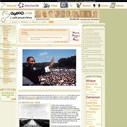 """I have a dream"" le discours de Martin Luther King a 40 ans"