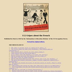 112 GRIPES ABOUT THE FRENCH - Paris, 1945 - full text