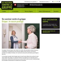 Site de l'OFSP sur la grippe saisonnière et la vaccination.