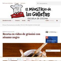 Vídeo receta de grissini - El Monstruo de las Galletas