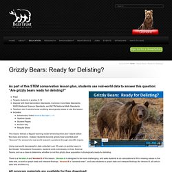Grizzly Bears: Ready for Delisting?
