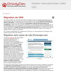 GrizzlyDev - Migration de CMS