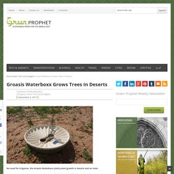 Groasis Waterboxx Grows Trees In Deserts