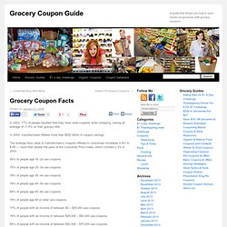 Grocery Coupon Facts - Grocery Coupon Guide