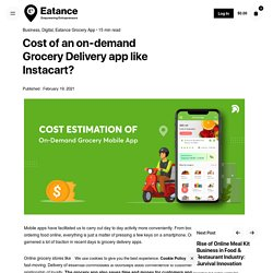 Cost of an on-demand Grocery Delivery app like Instacart? - Eatance App