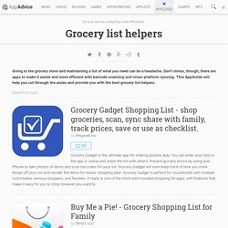 Grocery list helpers: iPad/iPhone Apps AppGuide