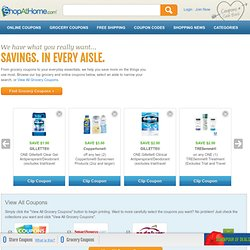 Grocery Coupons - 1,300+ Grocery Coupons and Printable Grocery Coupons from ShopAtHome.com