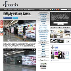 Mobile Smart Phone Grocery Shopping in Subway Stations