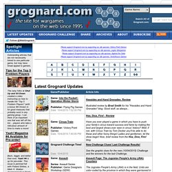 Web-Grognards: the site for wargames on the web