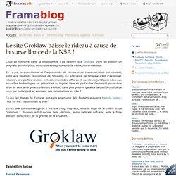 Le site Groklaw baisse le rideau à cause de la surveillance de la NSA !