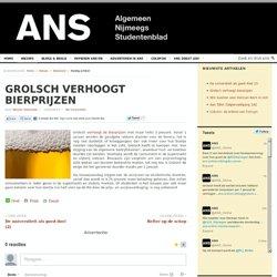 Grolsch verhoogt bierprijzen