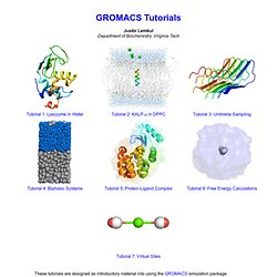 GROMACS Tutorials