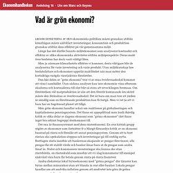 Vad är grön ekonomi? · Ekonomihandboken