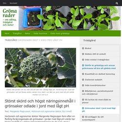 Grönsaker bäst i jord med lågt pH - Gröna rader