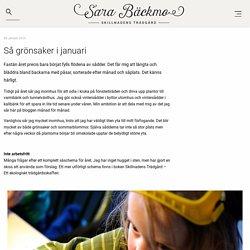 Så grönsaker i januari - Sara Bäckmo