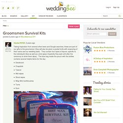 Groomsmen Survival Kits