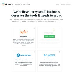 Groove Small Business Stack