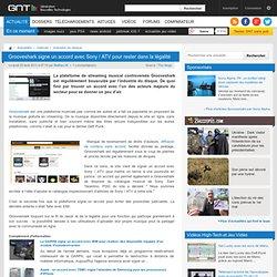 Grooveshark signe un accord avec Sony / ATV pour rester dans la légalité