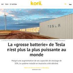 La «grosse batterie» de Tesla n'est plus la plus puissante au monde