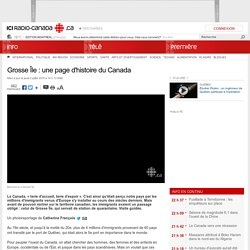 Grosse Île : une page d'histoire du Canada