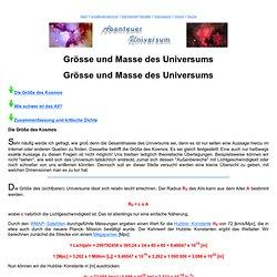 Grösse und Masse des Universums
