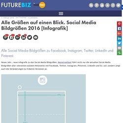 Alle Größen auf einen Blick. Social Media Bildgrößen 2016 [Infografik]