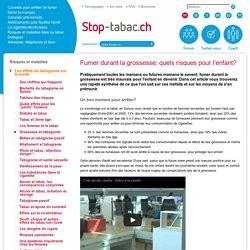 Grossesse et tabagisme - Stop-tabac.ch