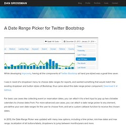 A Date Range Picker for Twitter Bootstrap