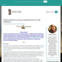 PEZZO GROSSO E LA FOLLIA MIGRANTISTICA DI TRE CARDINALI.