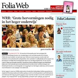 WRR: 'Grote hervormingen nodig in het hoger onderwijs'