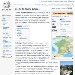 Grotte de Baume-Latrone