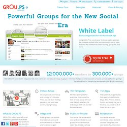 Powerful Groups for the New Social Era