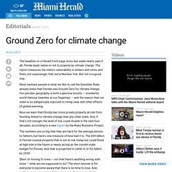 Ground Zero for climate change