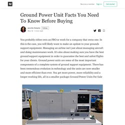 Ground Power Unit Facts You Need To Know Before Buying