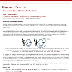 Grounded, embodied, and situated theories of cognition - Giovanni Pezzulo