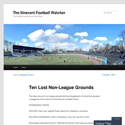 The Itinerant Football Watcher