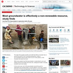 Groundwater is mostly non-renewable, study finds