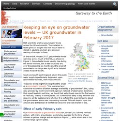 Keeping an eye on groundwater levels — UK groundwater in February 2017