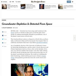 Groundwater Depletion Is Detected by Grace Satellites