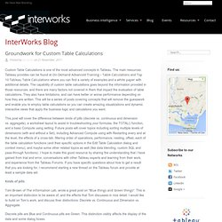 Groundwork for Custom Table Calculations - InterWorks UK - Tableau Software & Business Intelligence Consulting