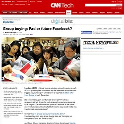 Group buying: Fad or future Facebook?