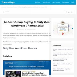 14 Best Group Buying & Daily Deal WordPress Themes of 2015