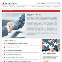 Group Companies of JM Financial Ltd.