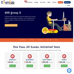 RRB Group D 2021 Online Mock Test Series