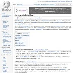 Groupe abélien libre