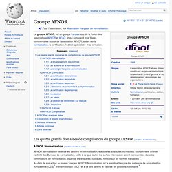 1926 création association AFNOR wikipedia
