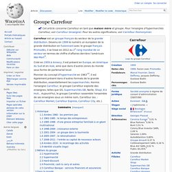 Groupe Carrefour