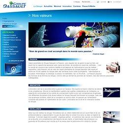 Groupe Dassault - Nos valeurs